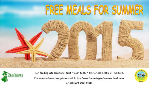 Free meals for Summer! For feeding locations text 'FOOD' to 877-877 or call 1-866-3-HUNGRY.