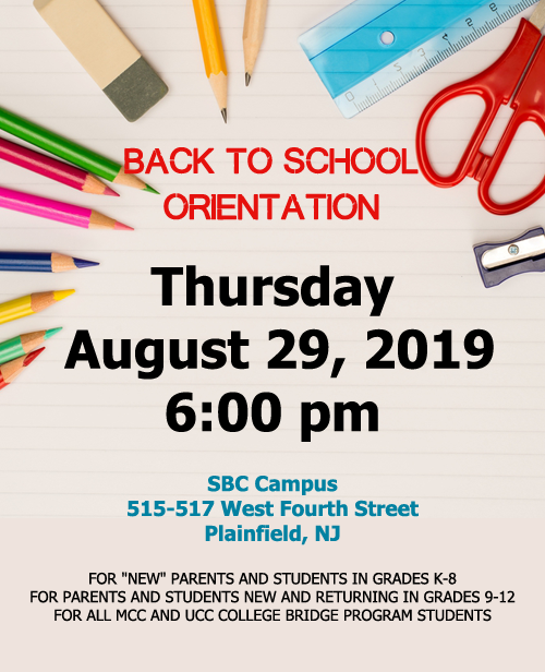 New Parents and All High School Students Orientation - Thursday, August 31st at 6:00pm